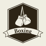 Boxing emblem Royalty Free Stock Images