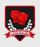 Boxing emblem Royalty Free Stock Photos