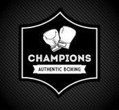 Boxing emblem Stock Images