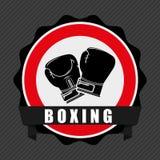 Boxing emblem Royalty Free Stock Image