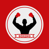 Boxing emblem. Design, vector illustration eps10 graphic Royalty Free Stock Photo