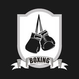 Boxing emblem Royalty Free Stock Photo