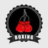 Boxing emblem Stock Image