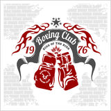 Boxing emblem. Vector stock Royalty Free Stock Photography