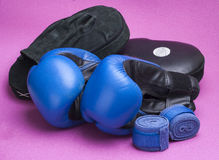 Boxing equipment Stock Images