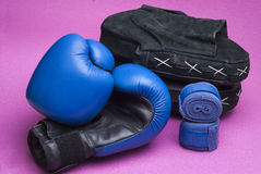 Boxing equipment Royalty Free Stock Images
