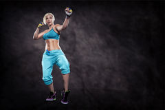 Boxing exercice Stock Photo