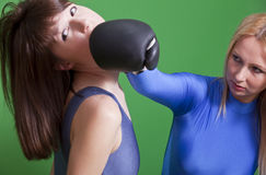 Boxing face punch Royalty Free Stock Image