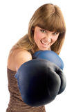 Boxing female punching Royalty Free Stock Photography