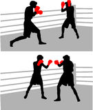 Boxing fight. Boxing Training, work Stock Photo