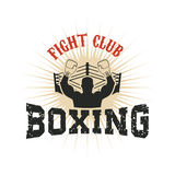 Boxing. Fight club. Vector illustration. Design element for t-shirt print Royalty Free Stock Photos