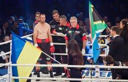 Boxing fight Oleksandr Usyk vs Danie Venter Royalty Free Stock Photography