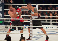 Boxing fight Oleksandr Usyk vs Danie Venter Stock Photos