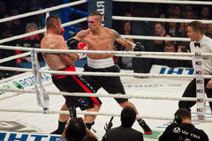 Boxing fight Oleksandr Usyk vs Danie Venter Royalty Free Stock Photo
