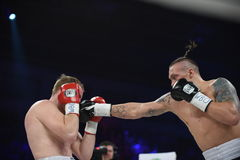 Boxing fight for WBO Inter-Continental cruiserweight title Stock Photos