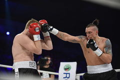 Boxing fight for WBO Inter-Continental cruiserweight title Royalty Free Stock Photos