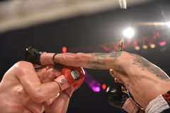 Boxing fight for WBO Inter-Continental cruiserweight title Royalty Free Stock Photography
