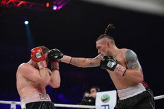 Boxing fight for WBO Inter-Continental cruiserweight title Stock Photo