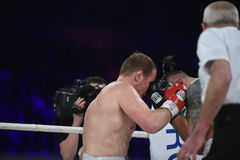 Boxing fight for WBO Inter-Continental cruiserweight title Stock Images