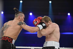 Boxing fight for WBO Inter-Continental cruiserweight title Stock Image