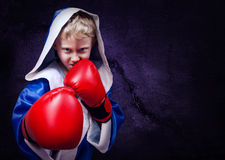 Boxing fighter portait Stock Photo
