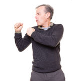 Boxing or fighting man stock image