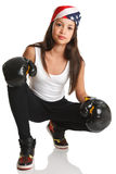 Boxing Fitness-good for girls Royalty Free Stock Images