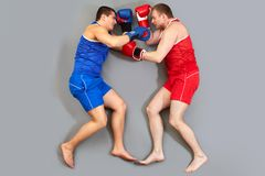 Boxing on the floor Stock Photography