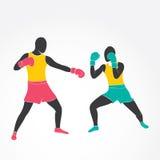 Boxing game design Stock Photos