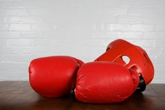 Boxing gear royalty free stock photography