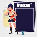 Boxing gile with blank space for presentation. gym plan concept. Illustration Stock Image