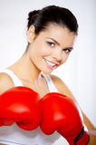 Boxing Girl Stock Photography