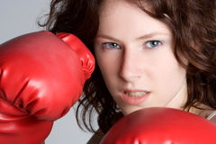 Boxing Girl. Fitness sports boxing girl closeup Stock Image