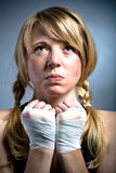 Boxing girl Royalty Free Stock Images