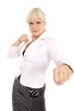 The boxing girl Royalty Free Stock Photos