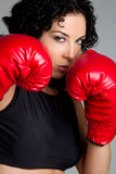 Boxing Girl Royalty Free Stock Photo