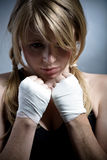 Boxing girl Stock Image