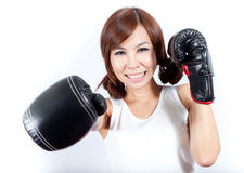 Boxing Girl Stock Images