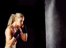 Boxing Girl Royalty Free Stock Image