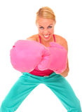 Boxing girl Stock Photo