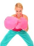 Boxing girl Stock Photo