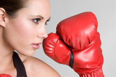Boxing Girl Royalty Free Stock Photos