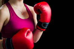 Boxing girl concept Stock Images