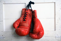 Boxing Glove. Red vintage Boxing Glove 1980 Royalty Free Stock Photo
