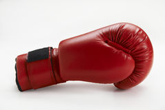 Boxing Glove. Single red boxing glove on white background Stock Image