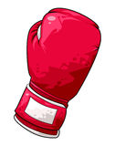 Boxing glove. Computer generated illustration of a red boxing glove vector illustration