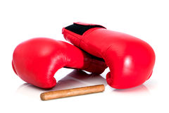 Boxing glove and cigar Stock Image