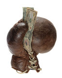 Boxing glove with green back Stock Photography