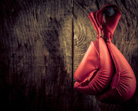 Boxing glove hanging Stock Images