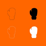 Boxing glove icon . Black and white set icon . Stock Images